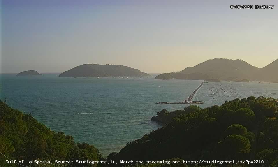 Webcam La Spezia, Portovenere e Lerici vicino alle Cinque Terre