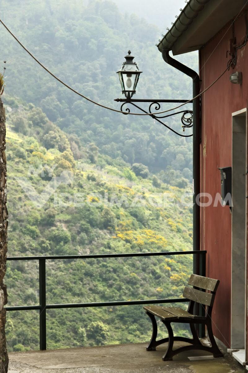 A corner of the village of San Bernardino in the Cinque Terre. - MyVideoimage.com