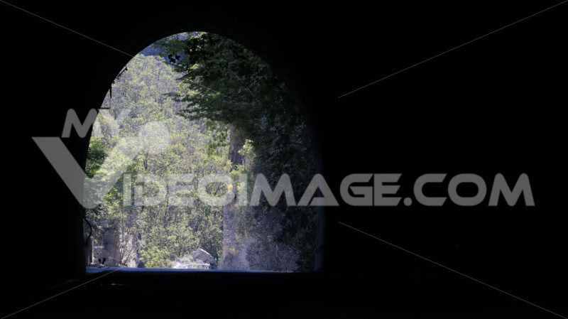 A gallery in the streets leading to the Carrara marble quarries. - MyVideoimage.com