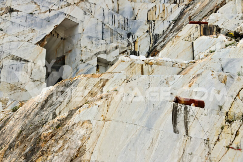 A quarry of white marble. The precious white Carrara marble has been extracted from the Alpi Apuane quarries since Roman times. - MyVideoimage.com