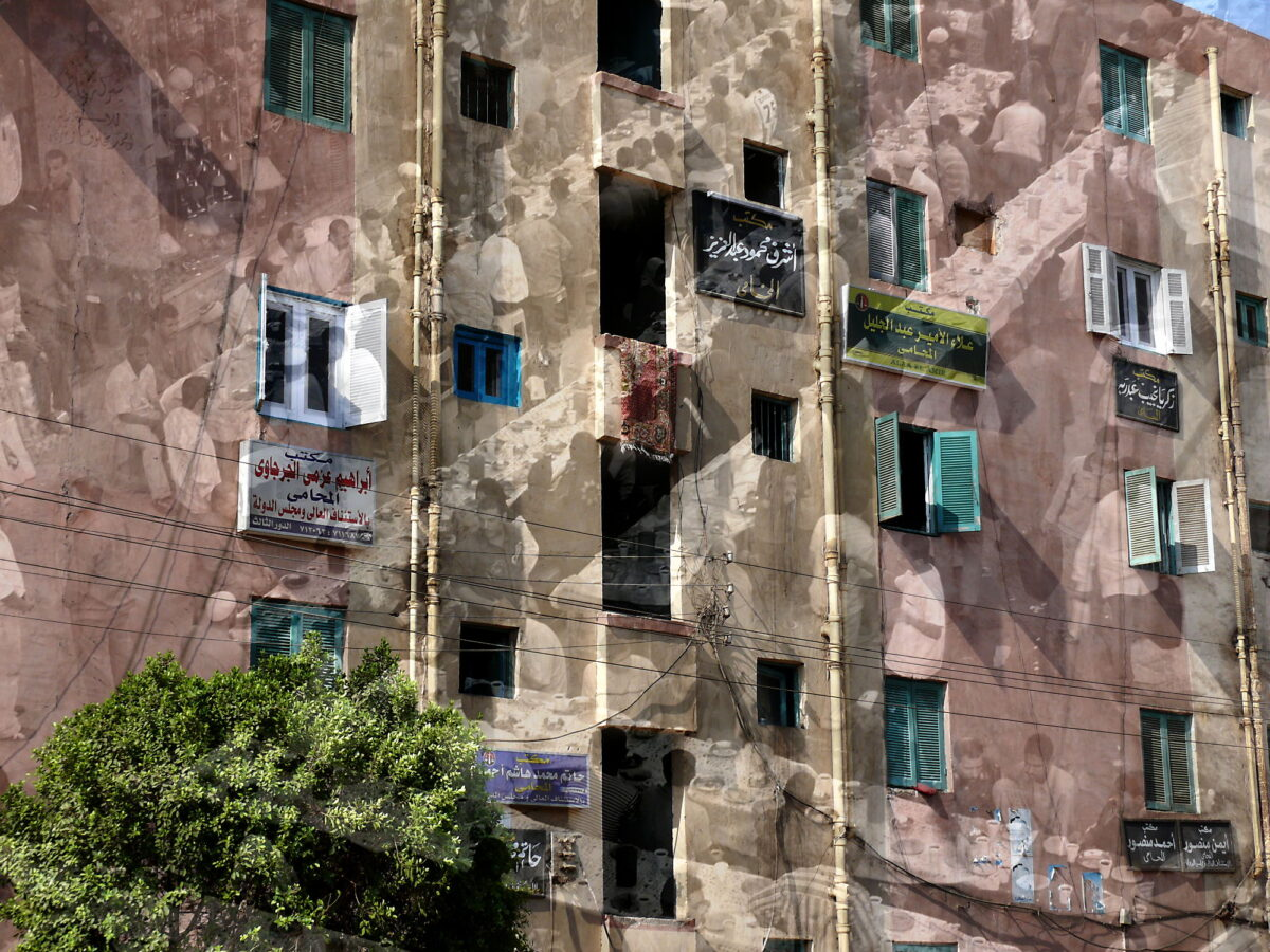 Buffet. Una fotografia d'arte di Paolo Grassi ripresa in Egitto. Doppia esposizione