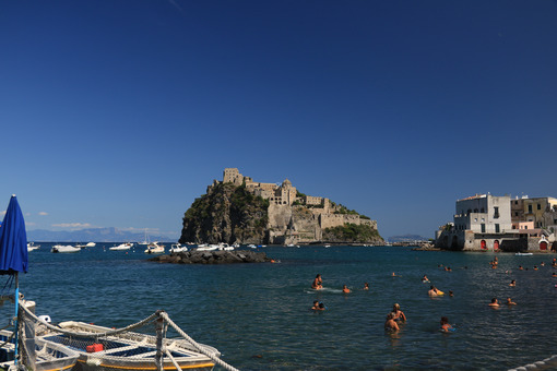 Ancient Aragonese Castle in Ischia Ponte. The fortification.