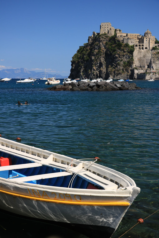 Ancient Aragonese Castle in Ischia Ponte. The fortification stan - MyVideoimage.com