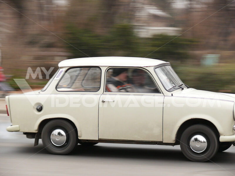 Ancient Trabant car. - MyVideoimage.com