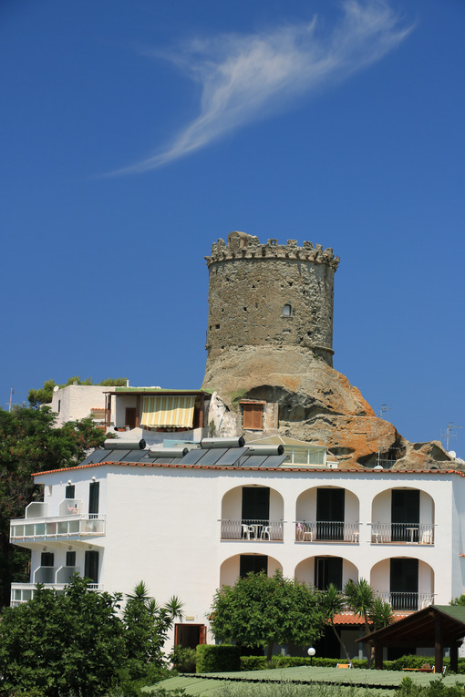 Ancient defensive tower in Forio, on the island of Ischia. The towers served as sighting points for enemies arriving from the sea. - MyVideoimage.com