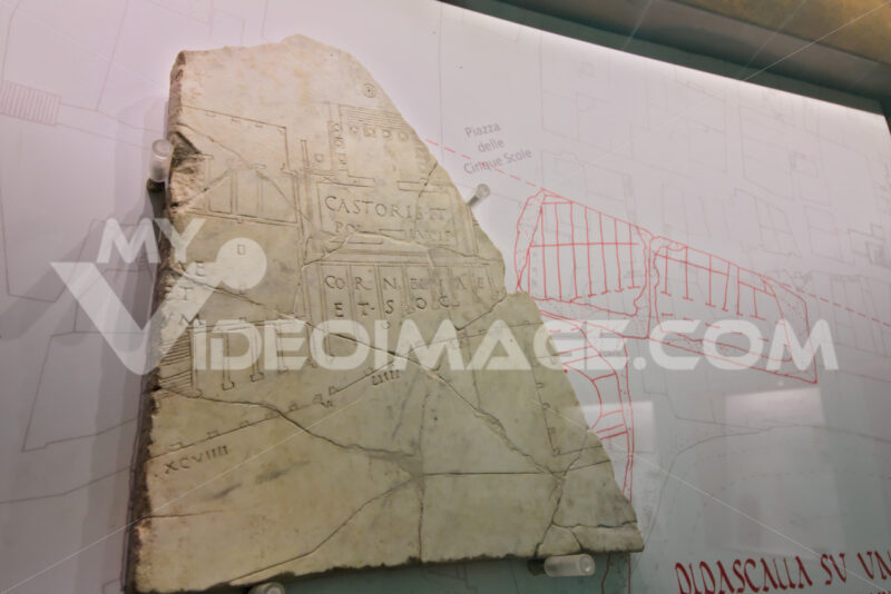 Ancient map of the city of Rome. - MyVideoimage.com