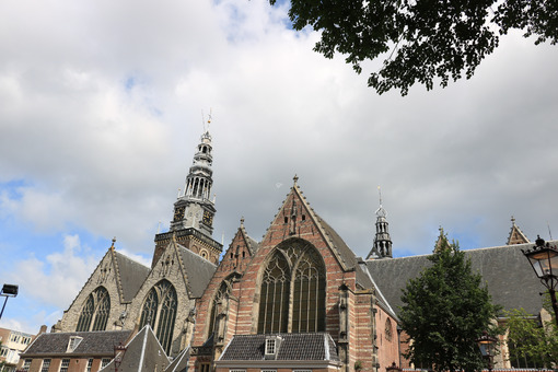 Apse of the Old Church (De Oude Kerk). - MyVideoimage.com | Foto stock & Video footage