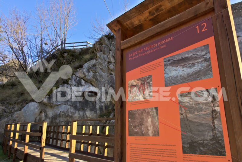 Apuan Alps, Carrara, Tuscany, Italy. March 28, 2019. Ancient quarry of white marble from the Roman period - LEphotoart.com