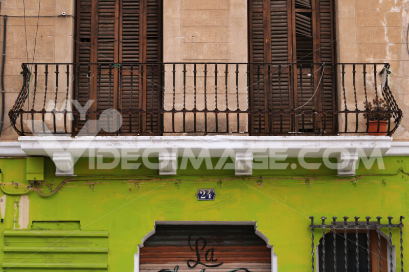 Barcelona, Spain. A typical facade of a Catalan house. - MyVideoimage.com