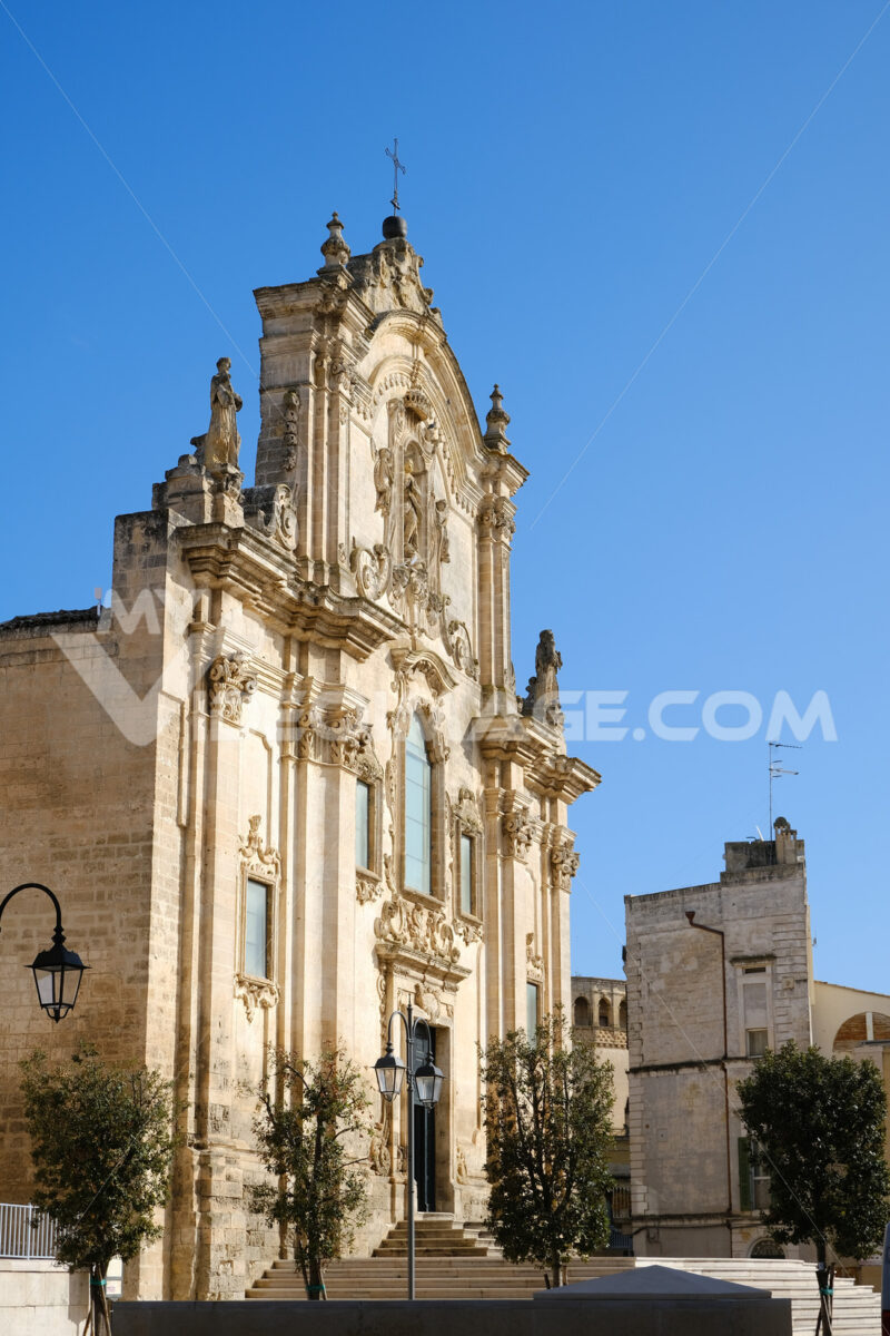 Baroque church of San Francesco d'Assisi in Matera. - MyVideoimage.com