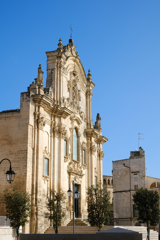 Baroque church of San Francesco d'Assisi in Matera. - MyVideoimage.com