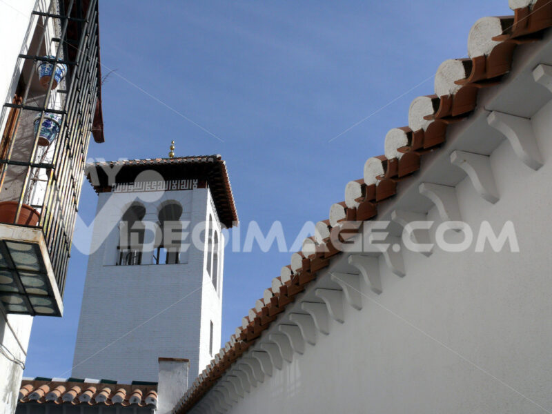 Bell tower with Arabic stylistic hints. - MyVideoimage.com