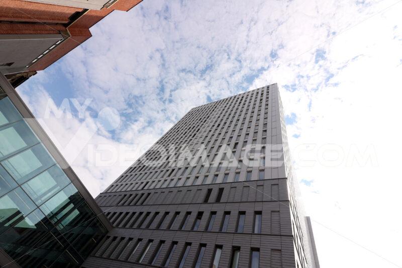 Berlin, Germany, 13 June 2018. Modern buildings of the new Berlin. Foto Berlino.