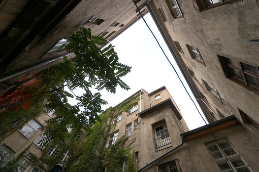 Berlin, Germany, 13 June 2018. Old residential buildings. Foto Berlino. Berlin photos