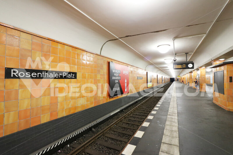 Berlin, Germany, 13 June 2018. Rosenthaler Platz underground. Foto Berlino. Berlin photos