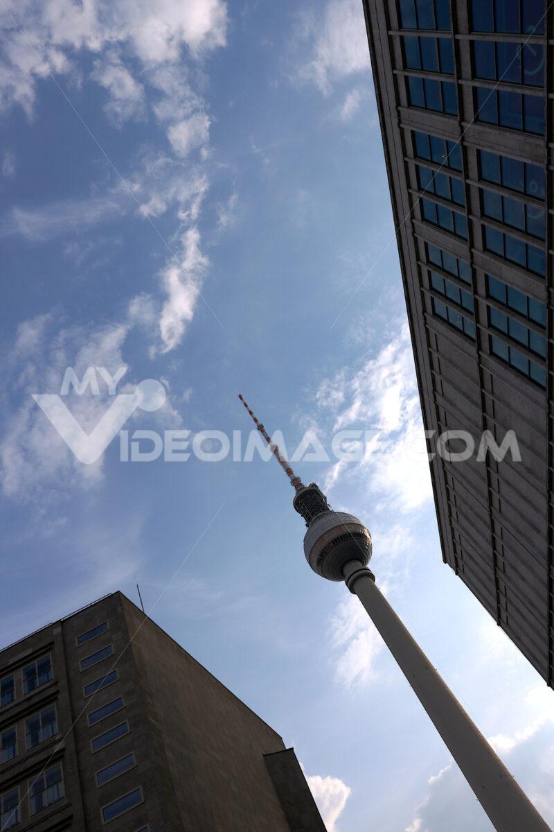 Berlin, Germany, 13 June 2018. The television tower at Alexander Platz. Foto Berlino. Berlin photos