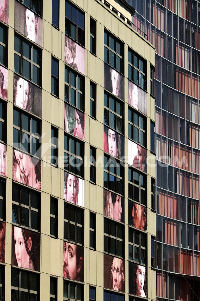 Berlin. 06/14/2008. A facade of a building with photographic pri - MyVideoimage.com