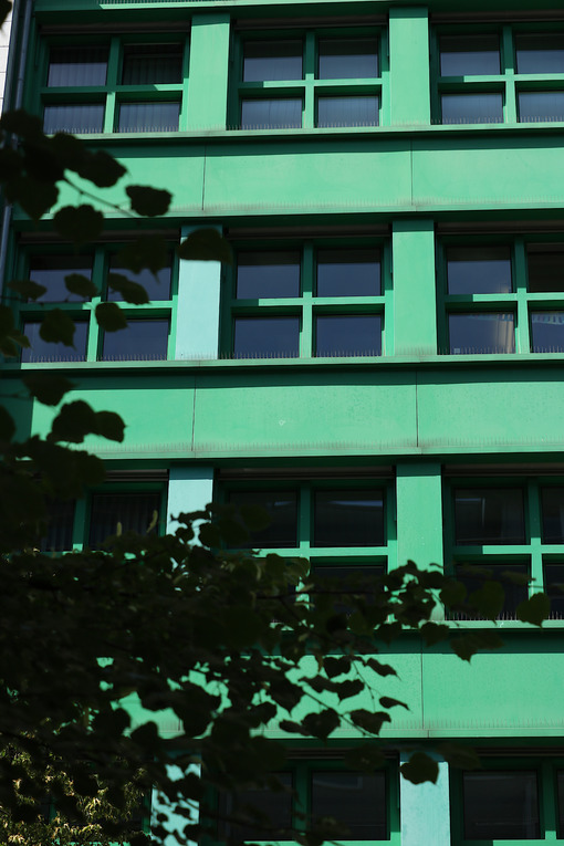 Berlin. 06/14/2008. A modern building with a green facade - MyVideoimage.com