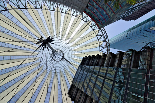 Berlin. 06/14/2018. Modern architecture of the Sony Center at Potsdamer Platz - MyVideoimage.com