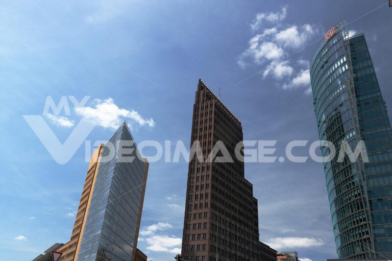 Berlin. 06/14/2018. Skyscrapers of Potsdamer Platz on the blue s - MyVideoimage.com