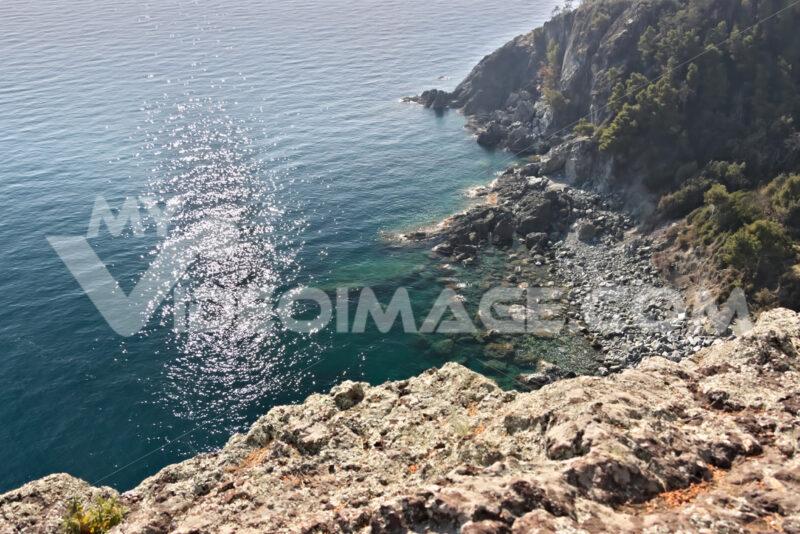 Bonassola, near Cinque Terre, Liguria. The landscape and the coast on the sea - MyVideoimage.com