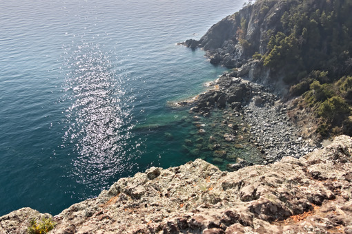 Bonassola, near Cinque Terre, Liguria. The landscape and the coast on the sea - MyVideoimage.com