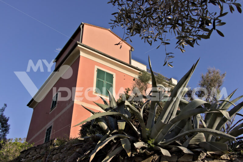 Bonassola, near Cinque Terre. 03/31/2019. A typical Ligurian house - MyVideimage.com