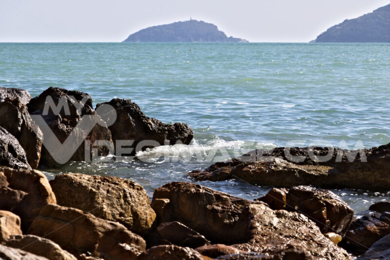 Breeding of mussels in the sea of the Gulf of La Spezia in Ligur - MyVideoimage.com