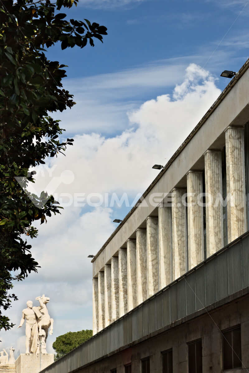 Building in the Eur district of Rome in an Italian rationalist style. - MyVideoimage.com