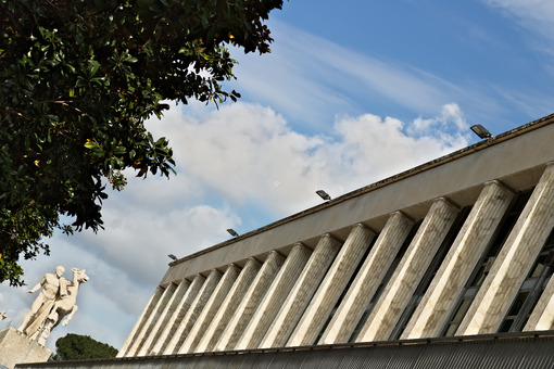 Building in the Eur district of Rome in an Italian rationalist style. Roma foto. - MyVideoimage.com