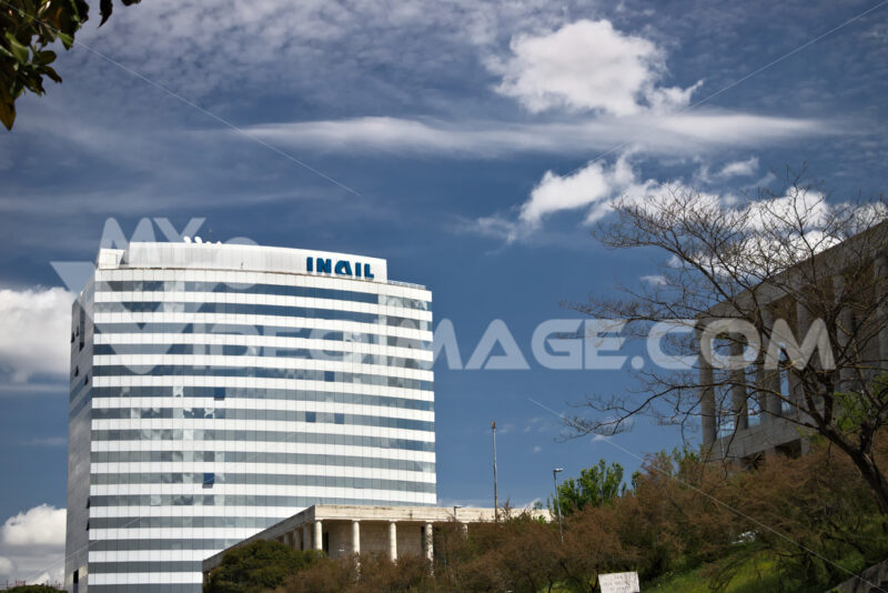 Building of the INAIL headquarters in Rome Eur. - MyVideoimage.com