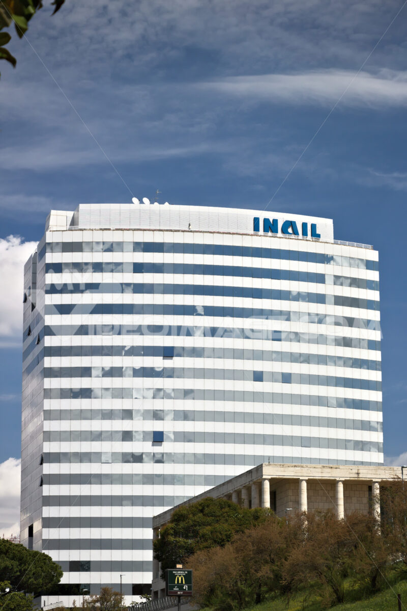 Building of the INAIL headquarters in Rome Eur. Public company building - MyVideoimage.com