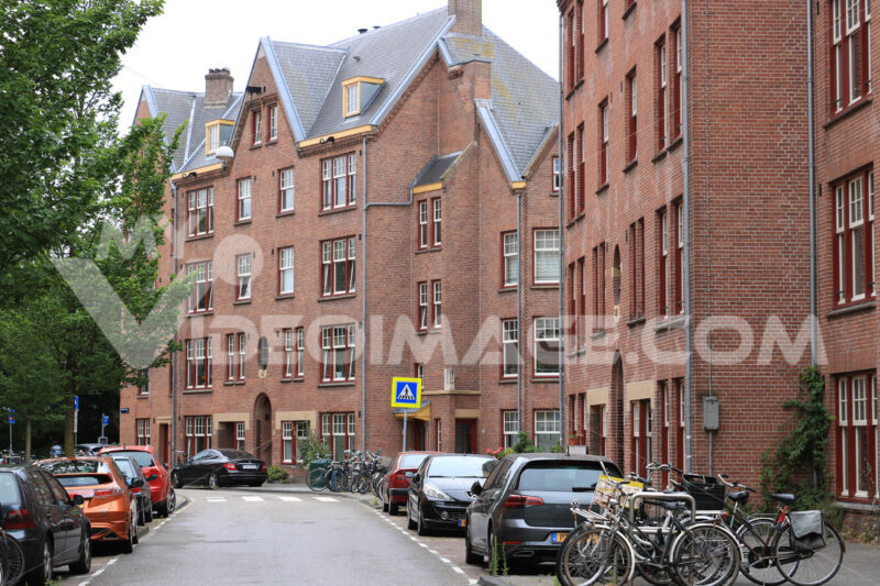 Buildings in the district of Spaarndammerbuurt famous for its ar - MyVideoimage.com