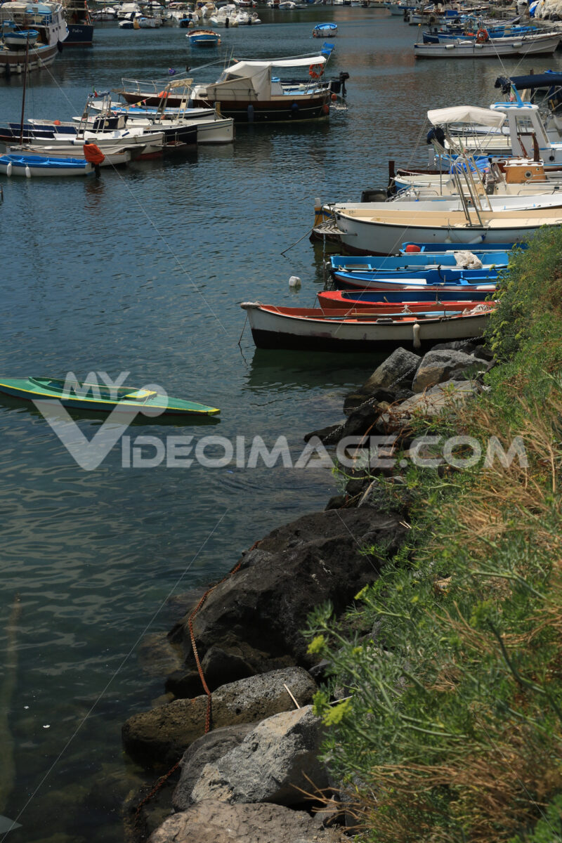 Case di Procida. Procida Island near Naples. Port of Corricella frequented by fis - MyVideoimage.com | Foto stock & Video footage