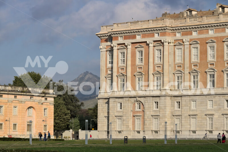 Caserta, Italy. Main external facade of the Royal Palace of Caserta (Italy). Designed by the architect Luigi Vanvitelli from 1751. Caserta royal palace photo