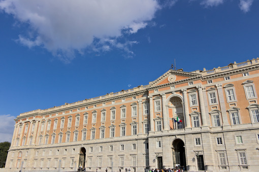 Caserta, Italy. Main external facade of the Royal Palace of Caserta. Italy. Foto reggia di Caserta. Caserta royal palace photo