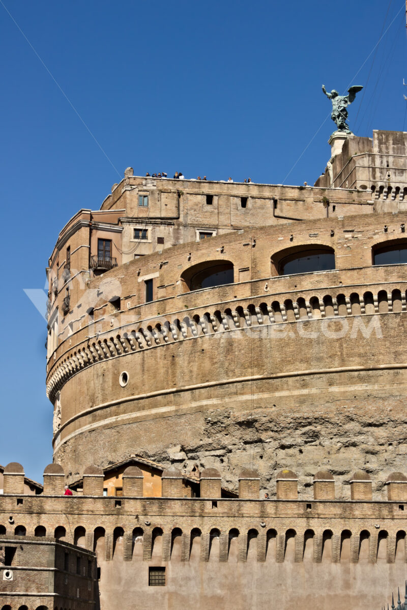Castel Sant'Angelo (or mausoleum of Hadrian) in Rome. - MyVideoimage.com