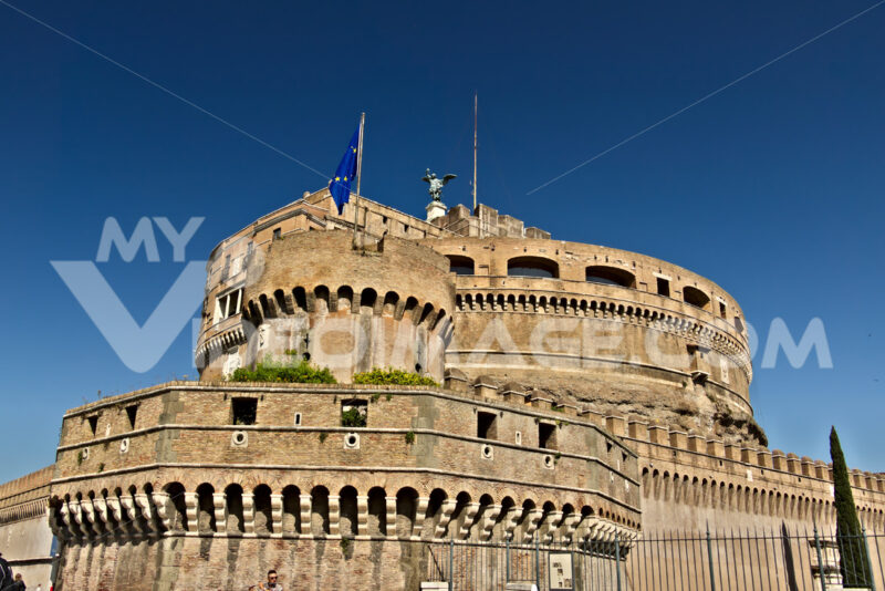 Castel Sant'Angelo (or mausoleum of Hadrian) in Rome. - MyVideoimage.com