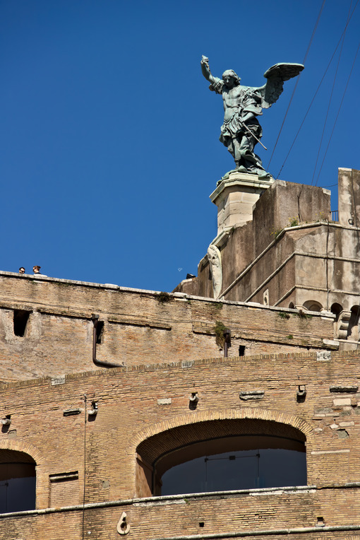 Castel Sant'Angelo (or mausoleum of Hadrian) in Rome. Roma foto. - LEphotoart.com