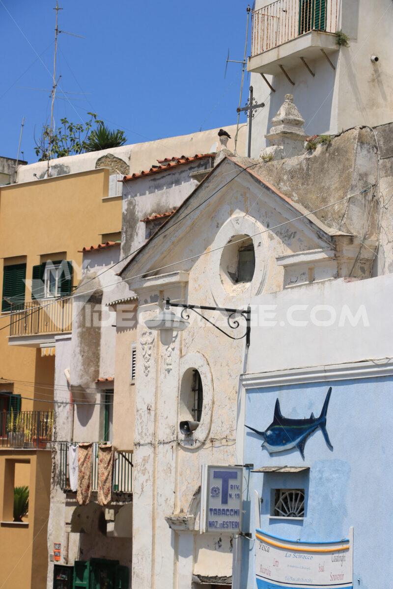 Chiesa Procida. Village of Marina Corricella, Procida Island, Mediterranean Sea, - MyVideoimage.com | Foto stock & Video footage