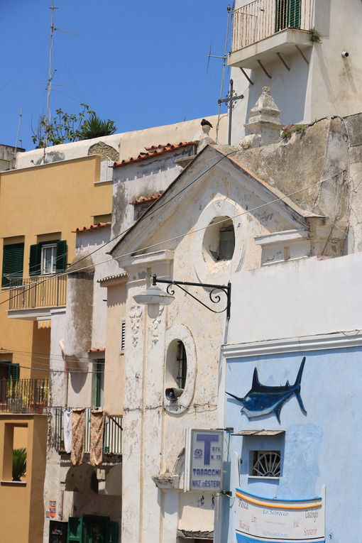 Chiesa Procida. Village of Marina Corricella, Procida Island, Mediterranean Sea, - MyVideoimage.com | Foto stock & Video footage