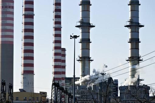 Chimneys of the power plant - MyVideoimage.com