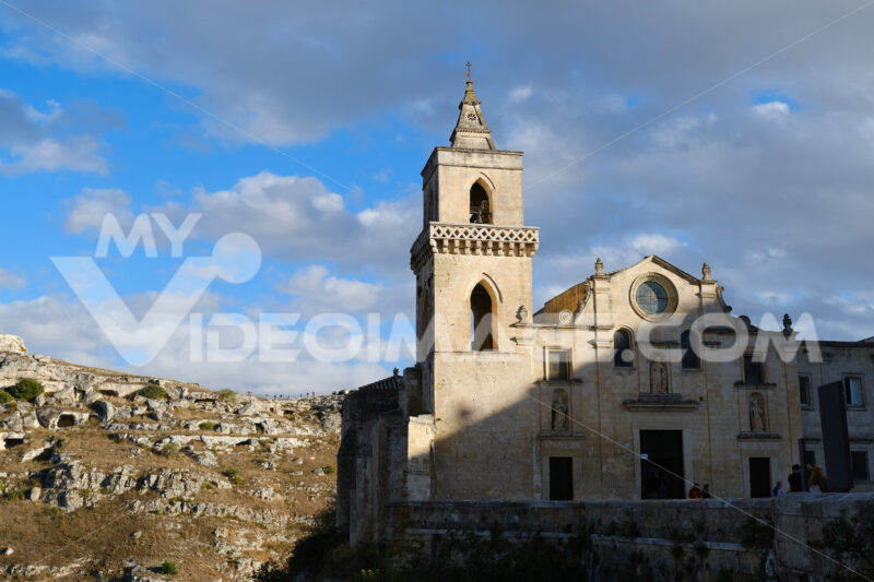 Church of San Pietro Caveoso in Matera. In the background the Mountains with ancient prehistoric caves. - LEphotoart.com