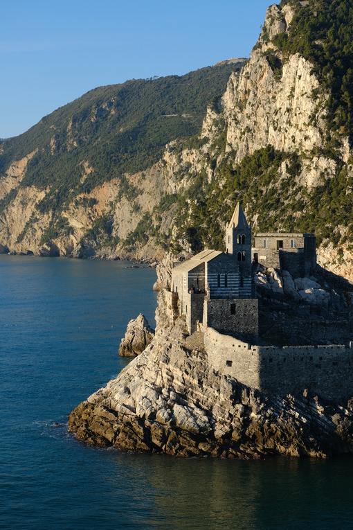Church of San Pietro in Portovenere near the Cinque Terre. Ancient medieval building on the rocks overlooking the sea. - LEphotoart.com