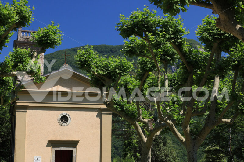 Church of Sant'Anna di Stazzema, place of the Nazi massacre of 1944. On 12 August children, women and men were killed by the Nazis. - LEphotoart.com