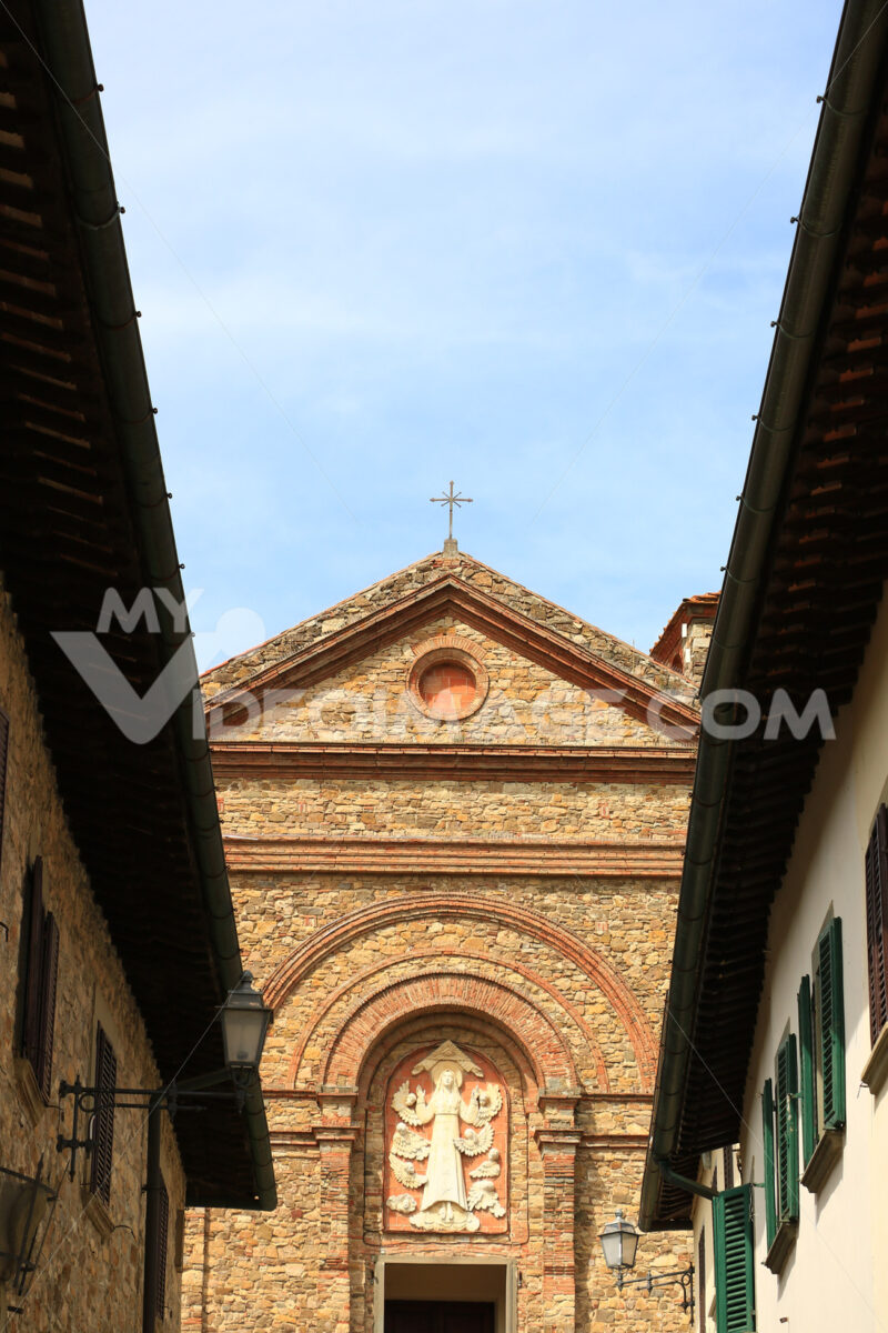 Church of Santa Maria in Panzano in Chianti near Florence. On th - MyVideoimage.com