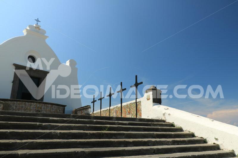 Church of Soccorso in Forio on the island of Ischia near Naples. - MyVideoimage.com