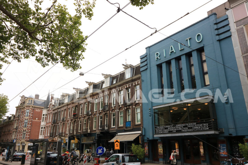 Cinema in Amsterdam. Palaces of the De Pijp district built in the nineteenth century - MyVideoimage.com | Foto stock & Video footage
