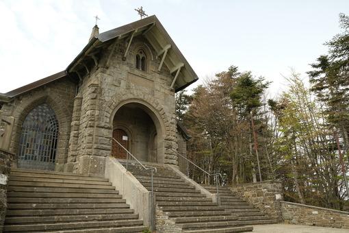 Cisa church. Church at the Cisa Pass near Via Francigena. Stock photos. - MyVideoimage.com | Foto stock & Video footage