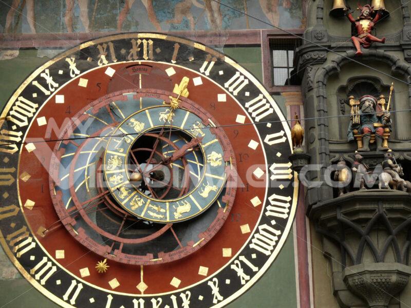 Clock face of antique Swiss watch. - MyVideoimage.com